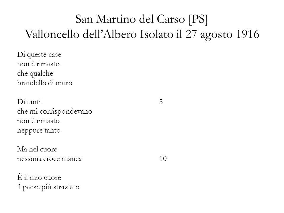 San Martino del Carso [PS] Valloncello dell'Albero Isolato il 27 agosto 1916